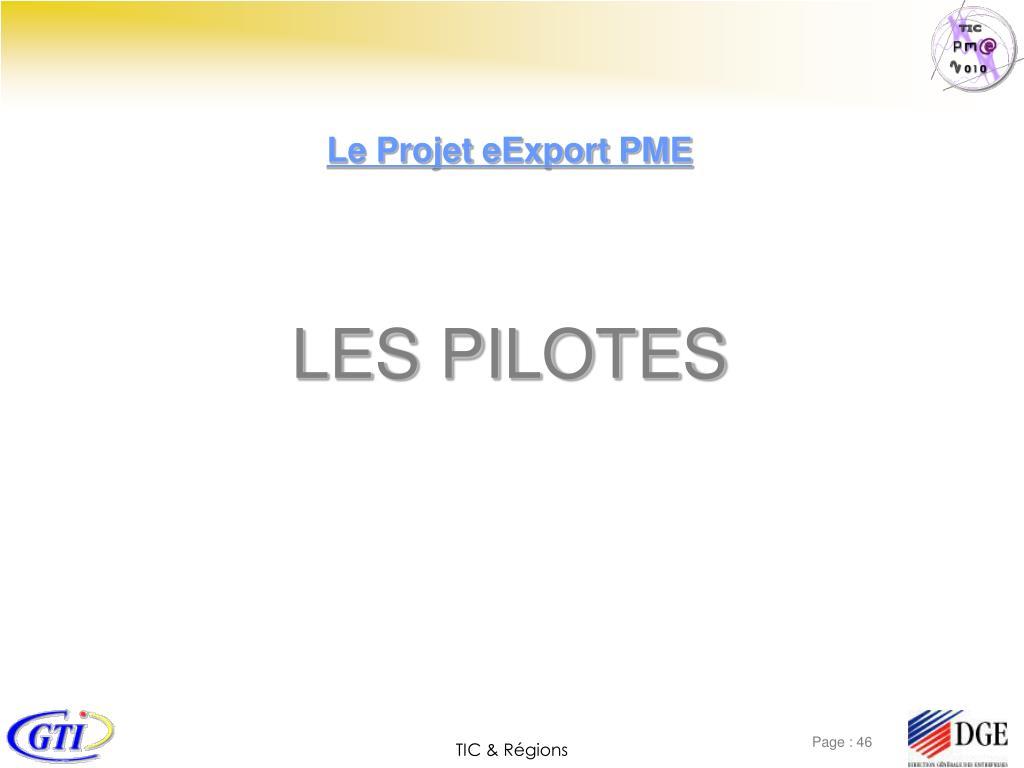 Le Projet eExport PME