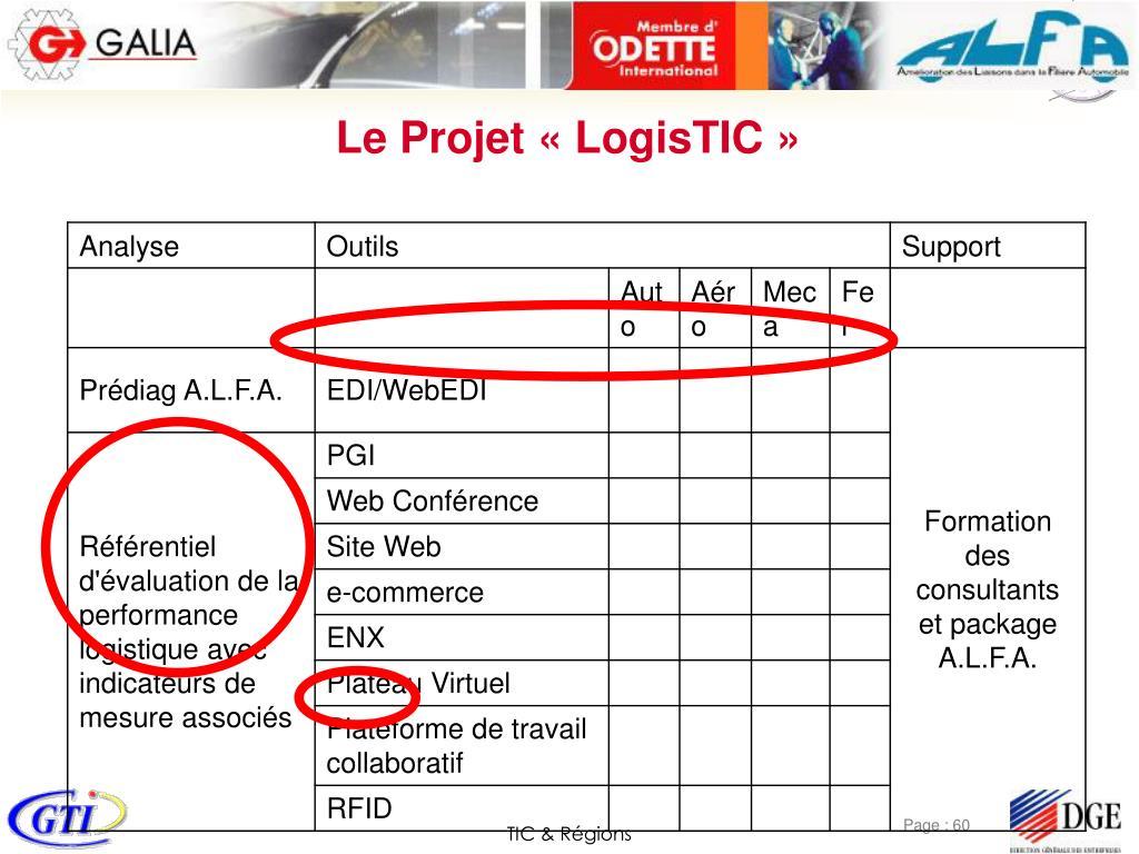 Le Projet «LogisTIC»