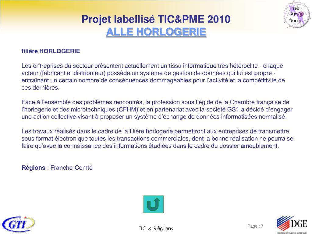 Projet labellisé TIC&PME 2010