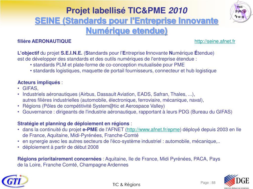 Projet labellisé TIC&PME