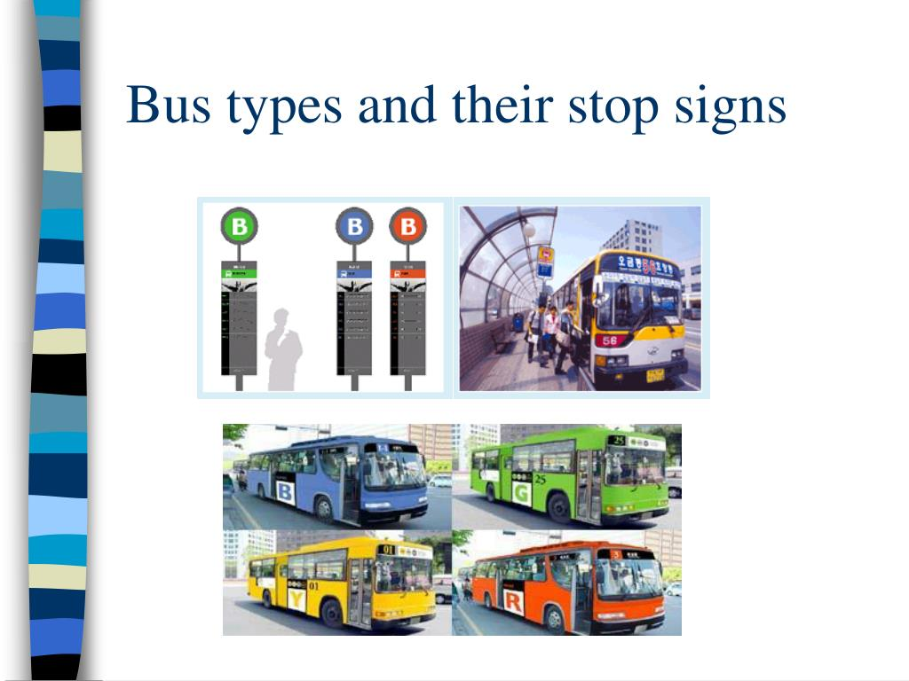Bus types and their stop signs