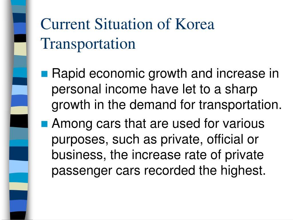 Current Situation of Korea Transportation