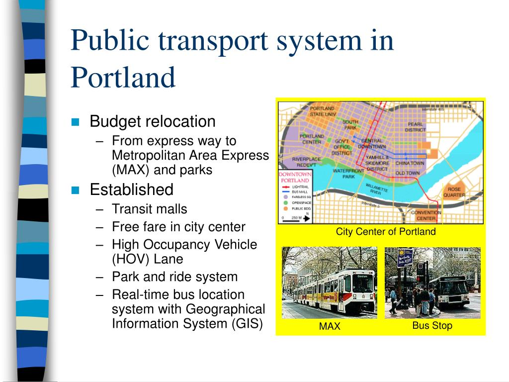 Public transport system in Portland