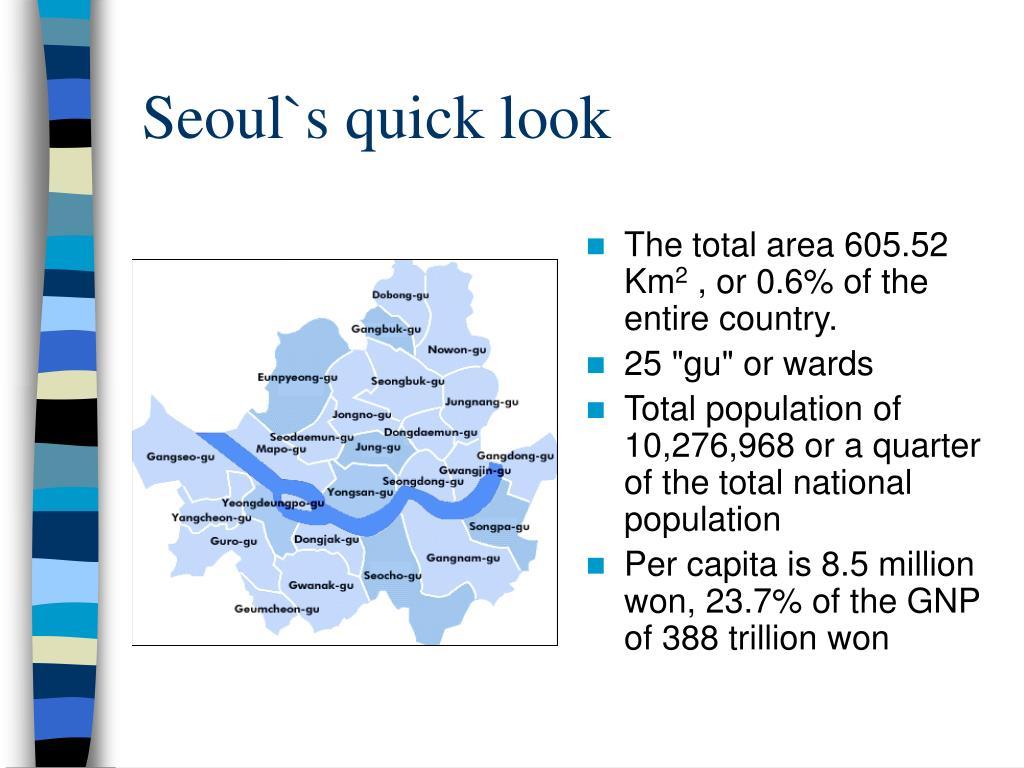 Seoul`s quick look