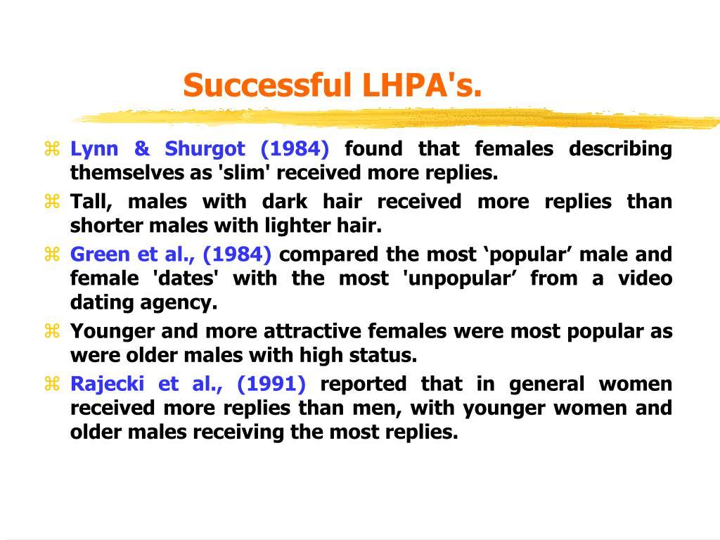 Successful LHPA's.