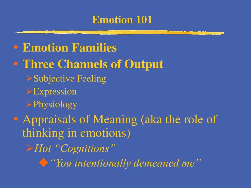 Emotion 101