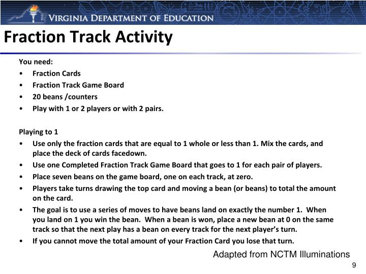Fraction Track Activity