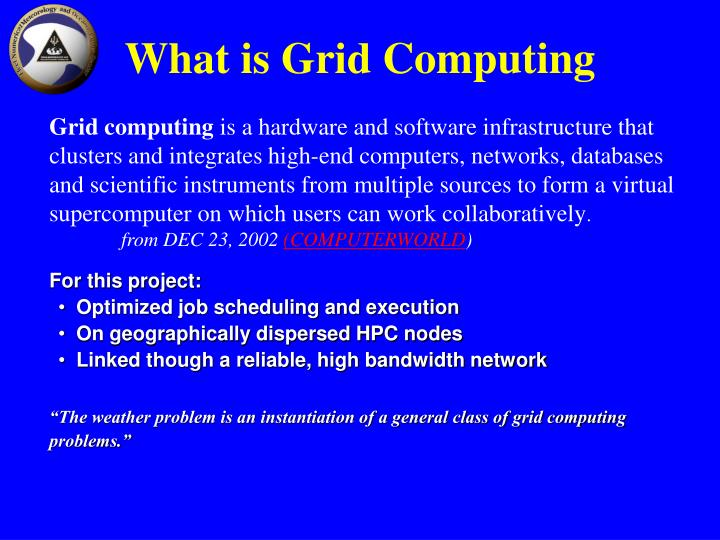 What is Grid Computing