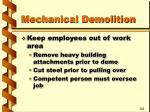 mechanical demolition