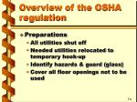 overview of the osha regulation3