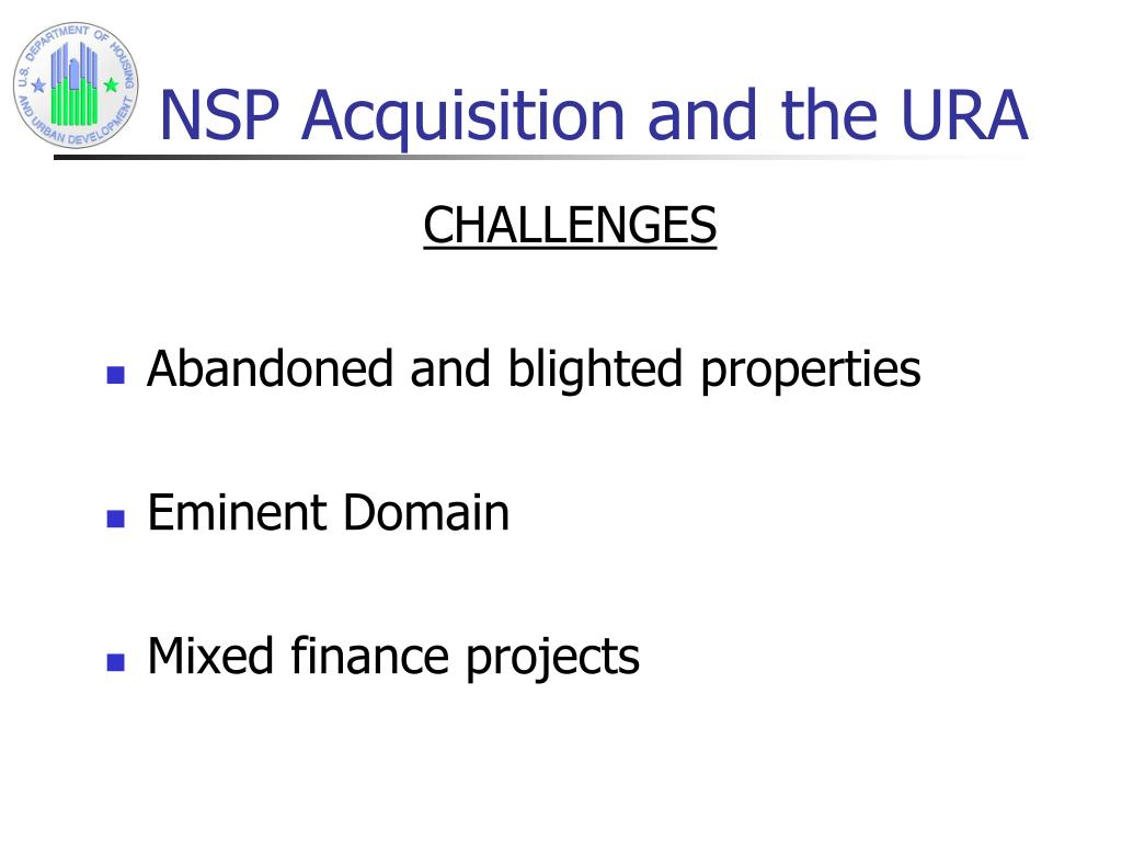 NSP Acquisition and the URA