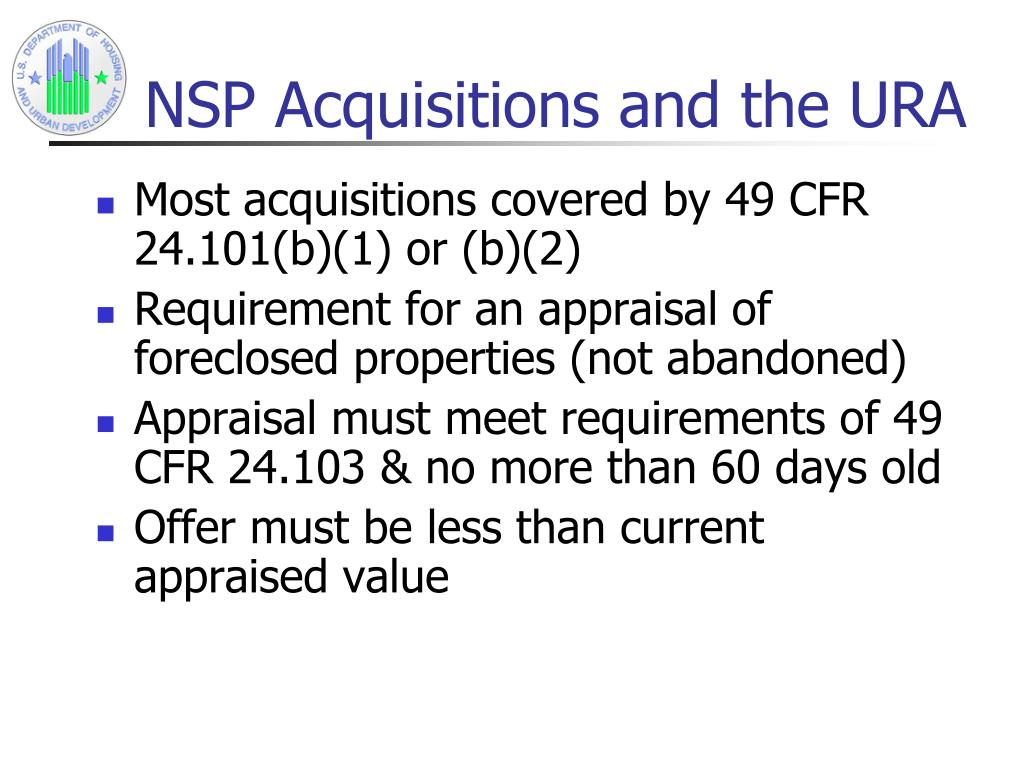NSP Acquisitions and the URA