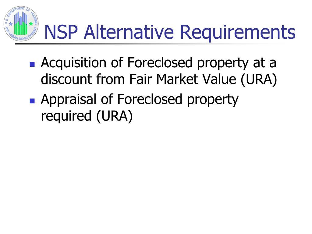 NSP Alternative Requirements