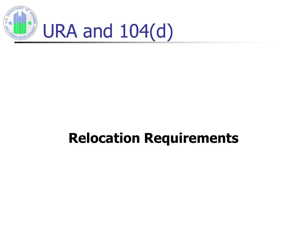 URA and 104(d)
