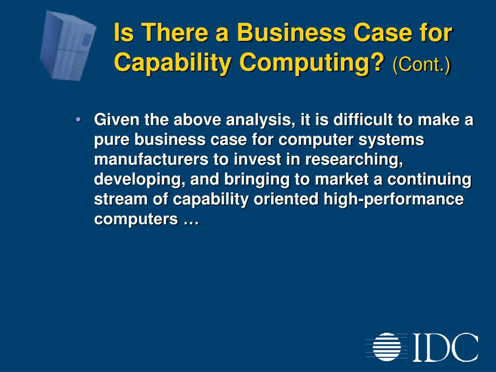 Is There a Business Case for Capability Computing?
