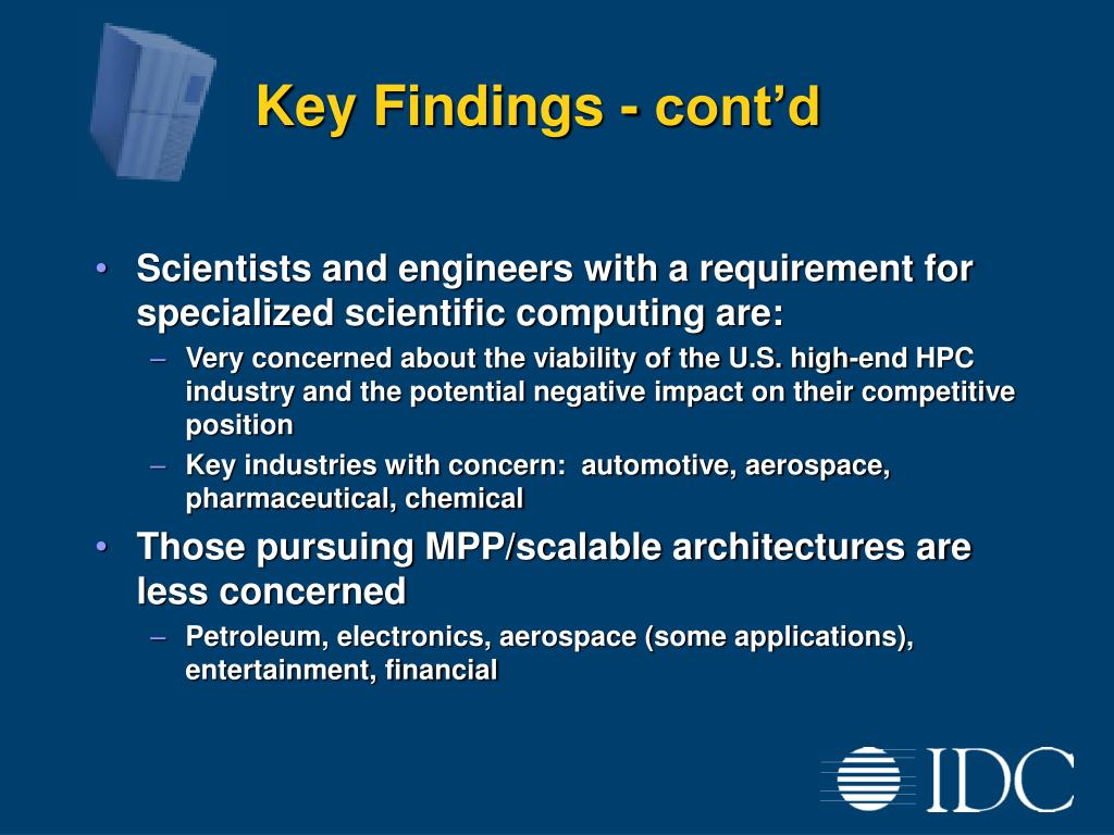 Key Findings - cont'd