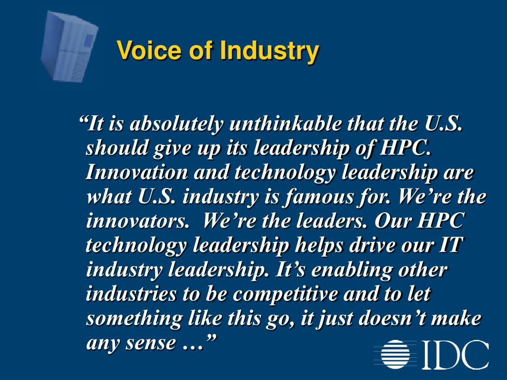 Voice of Industry