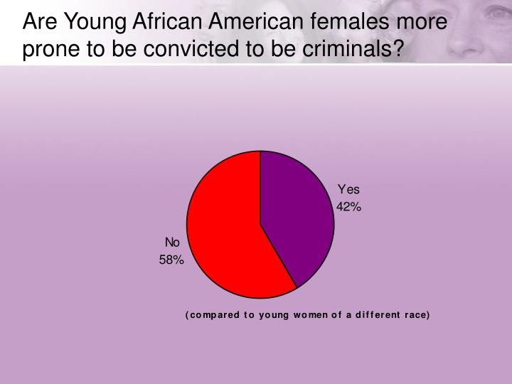 Are Young African American females more prone to be convicted to be criminals?