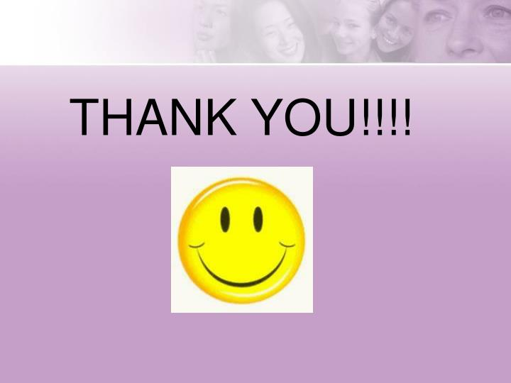 THANK YOU!!!!