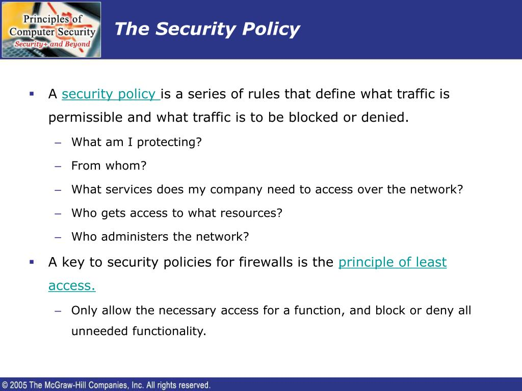 The Security Policy