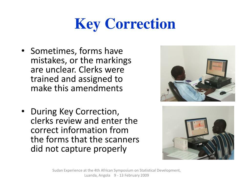 Key Correction