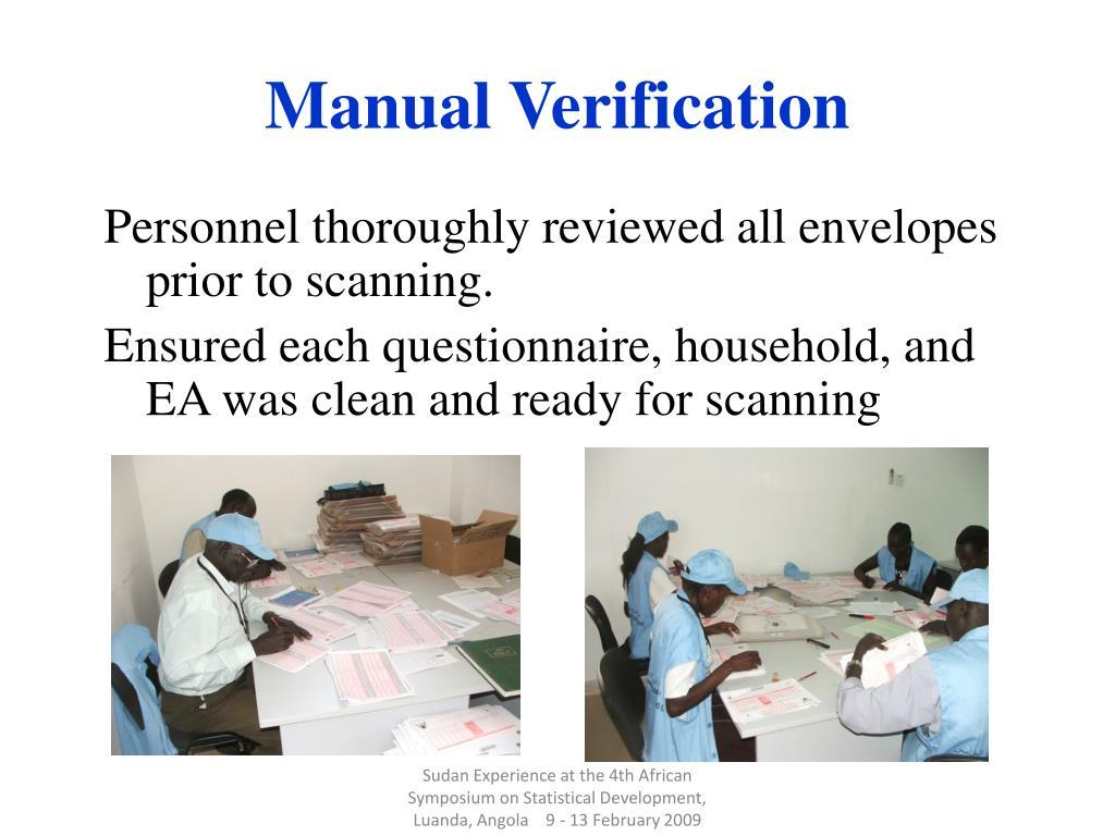 Manual Verification
