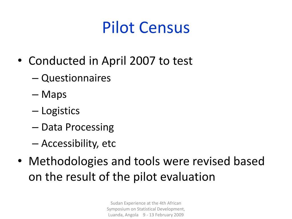 Pilot Census