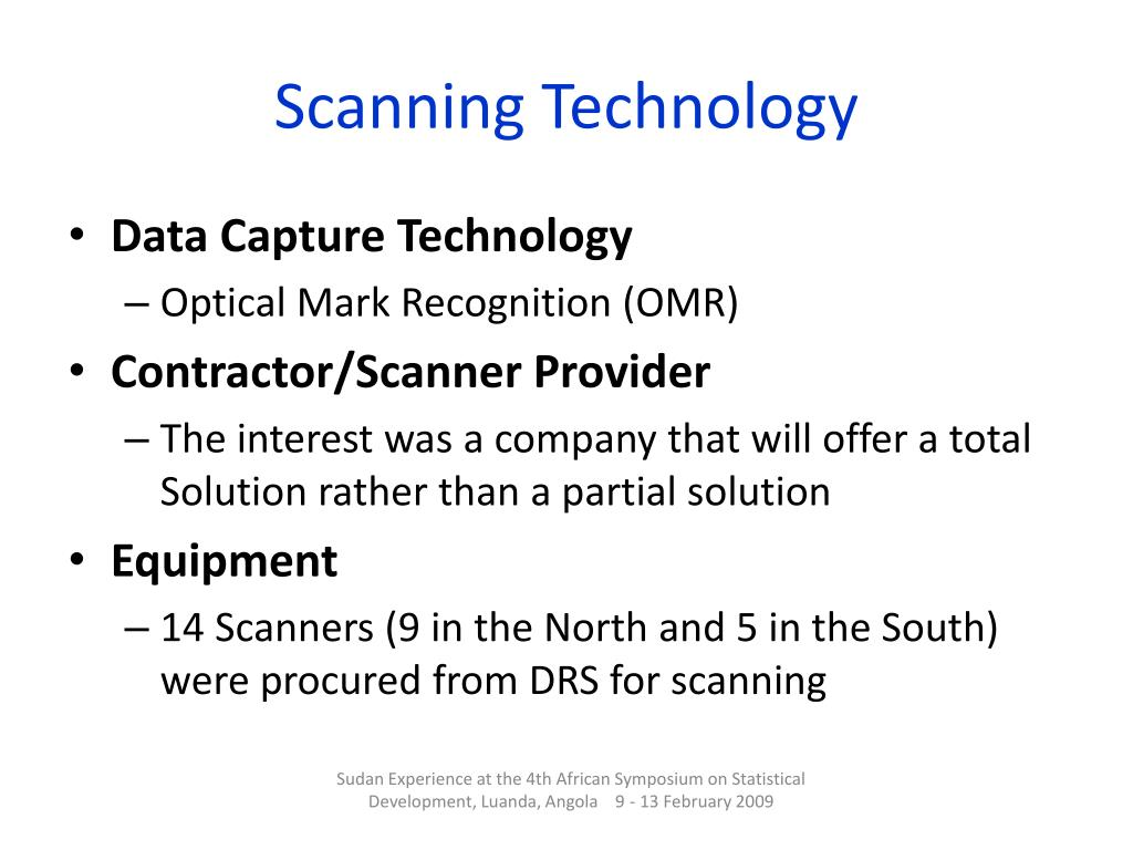 Scanning Technology