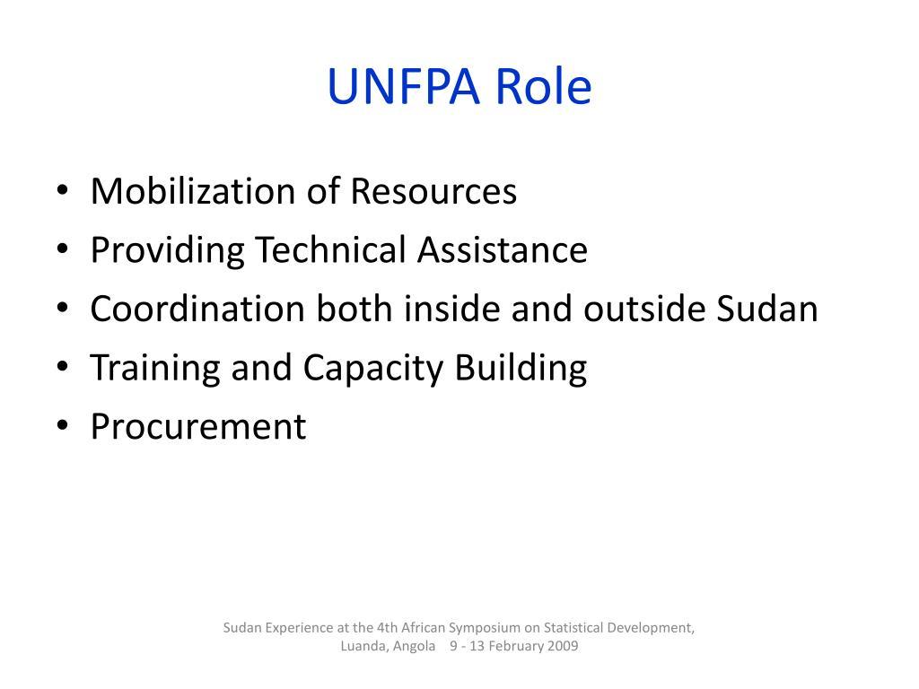 UNFPA Role