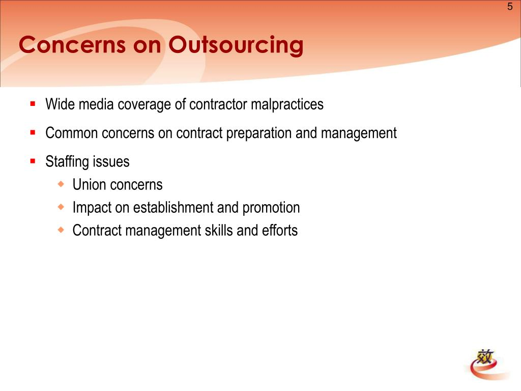 Concerns on Outsourcing