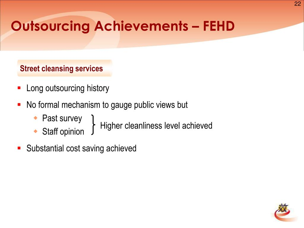 Outsourcing Achievements – FEHD