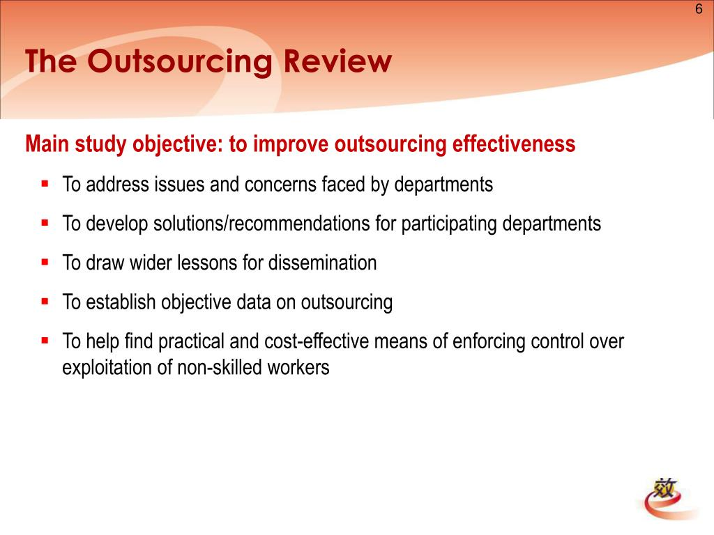 The Outsourcing Review