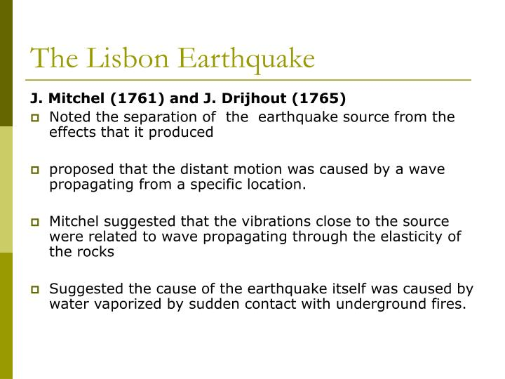The Lisbon Earthquake