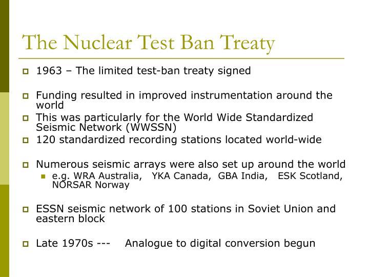 The Nuclear Test Ban Treaty