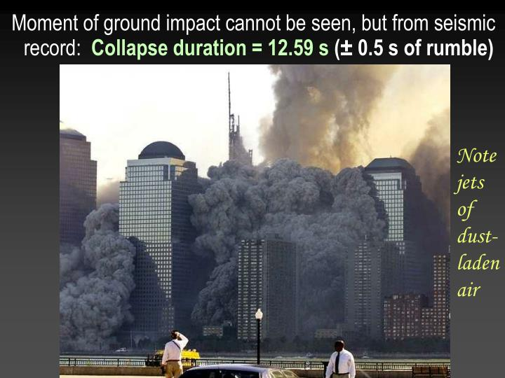 Moment of ground impact cannot be seen, but from seismic