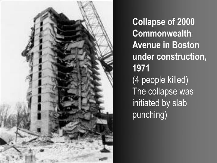 Collapse of 2000 Commonwealth Avenue in Boston under construction, 1971
