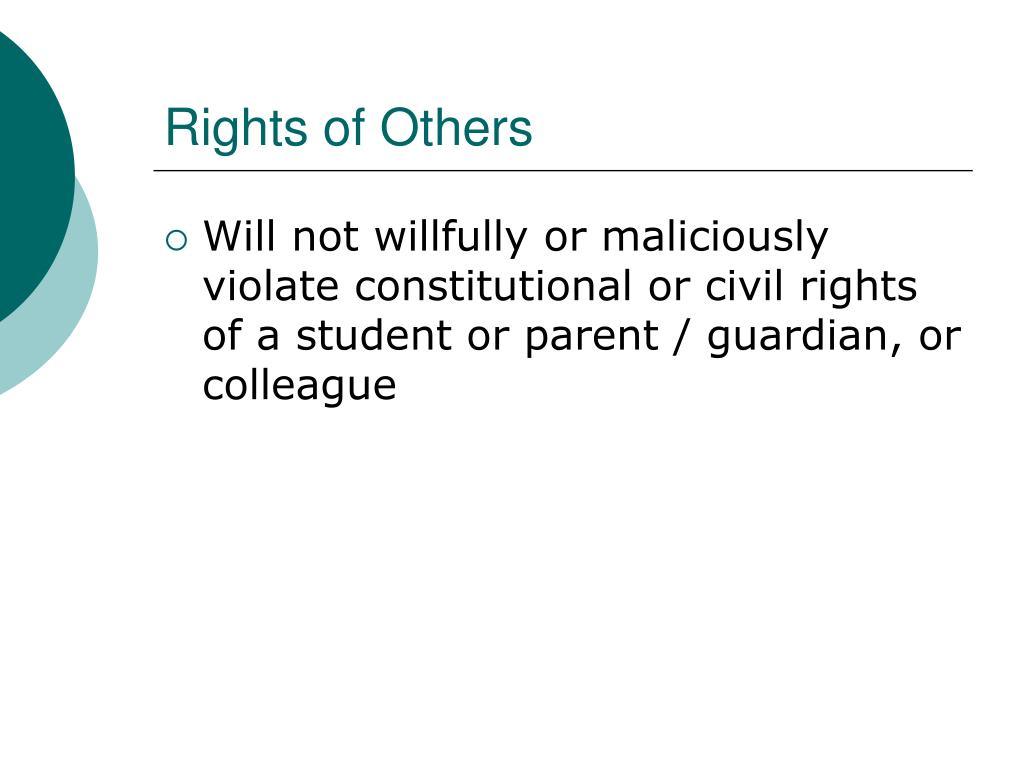 Rights of Others