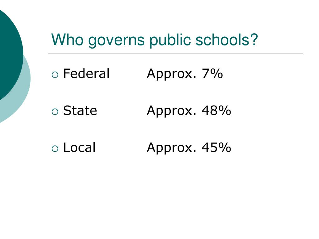 Who governs public schools?