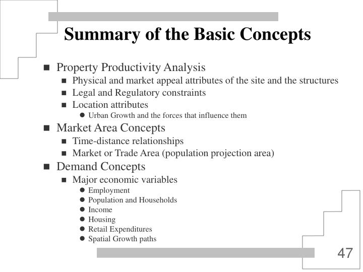 Summary of the Basic Concepts