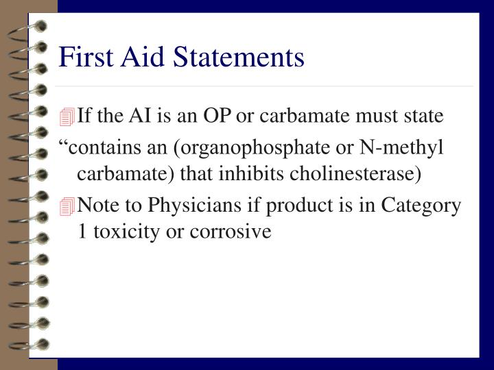 First Aid Statements