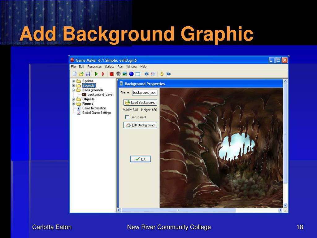 Add Background Graphic
