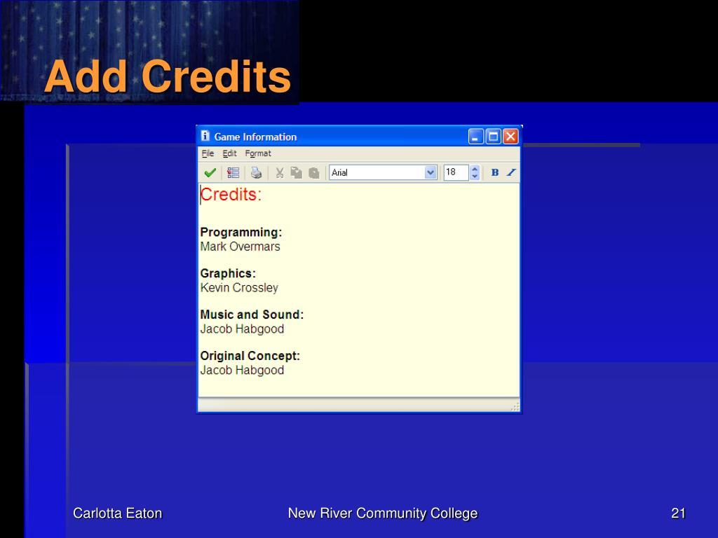 Add Credits