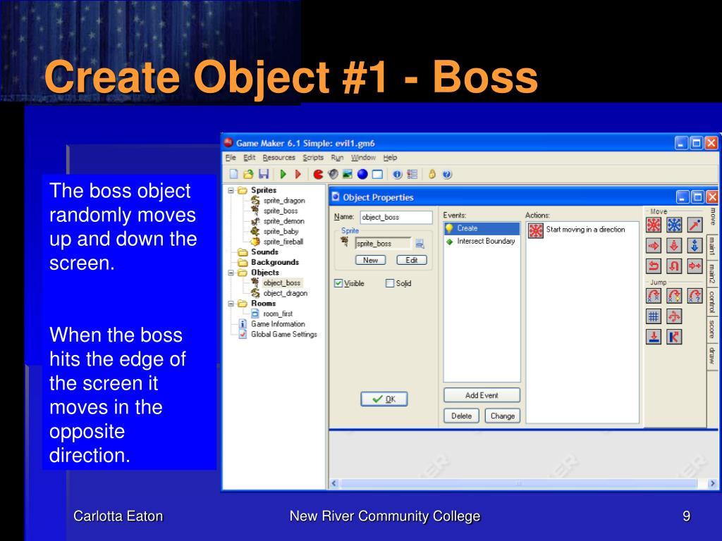 Create Object #1 - Boss