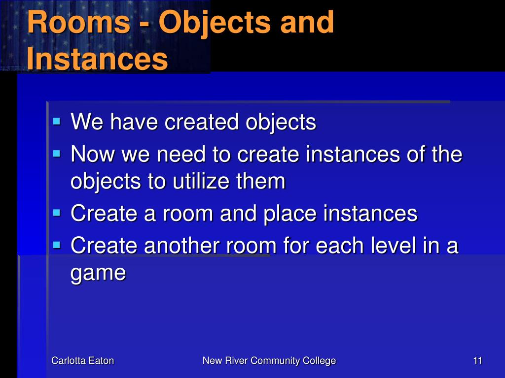 Rooms - Objects and Instances