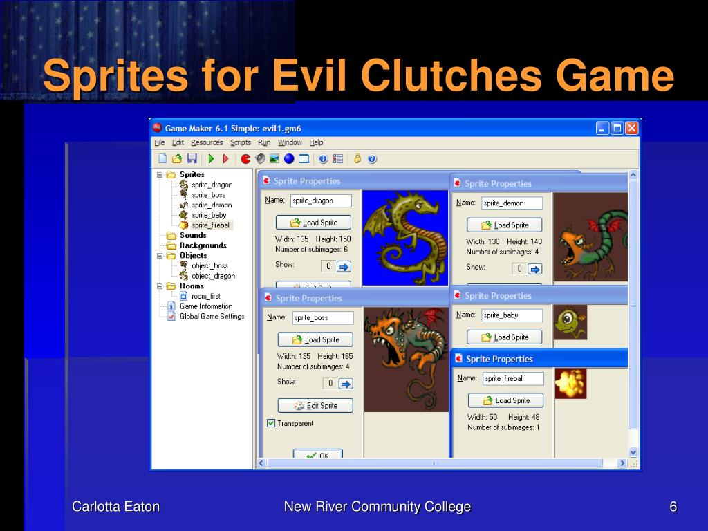 Sprites for Evil Clutches Game