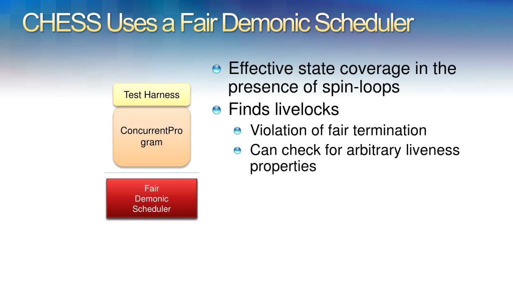 CHESS Uses a Fair Demonic Scheduler