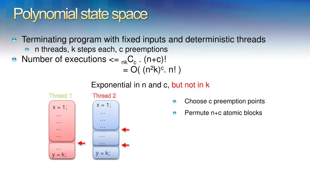 Polynomial state space