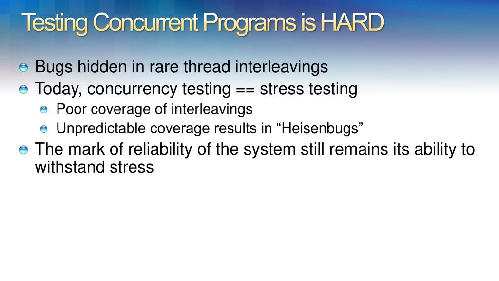 Testing Concurrent Programs is HARD