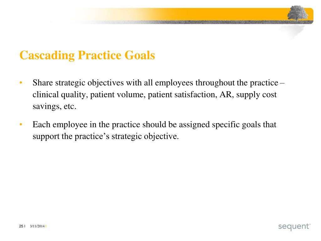 Cascading Practice Goals