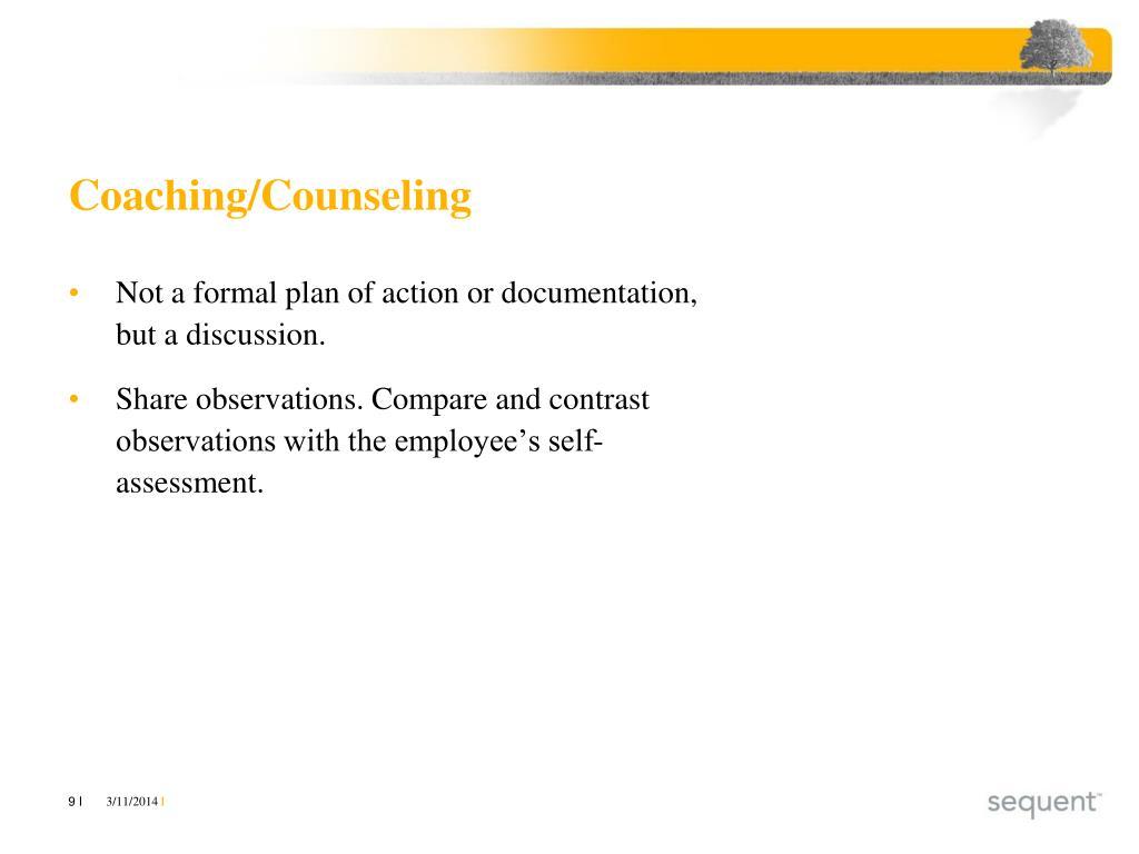 Coaching/Counseling